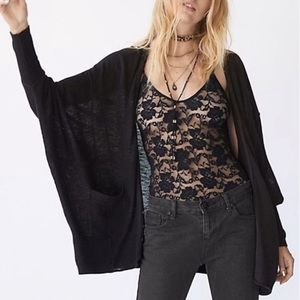 Free People Sweaters - Black Batwing Cardigan Days Like This Free People